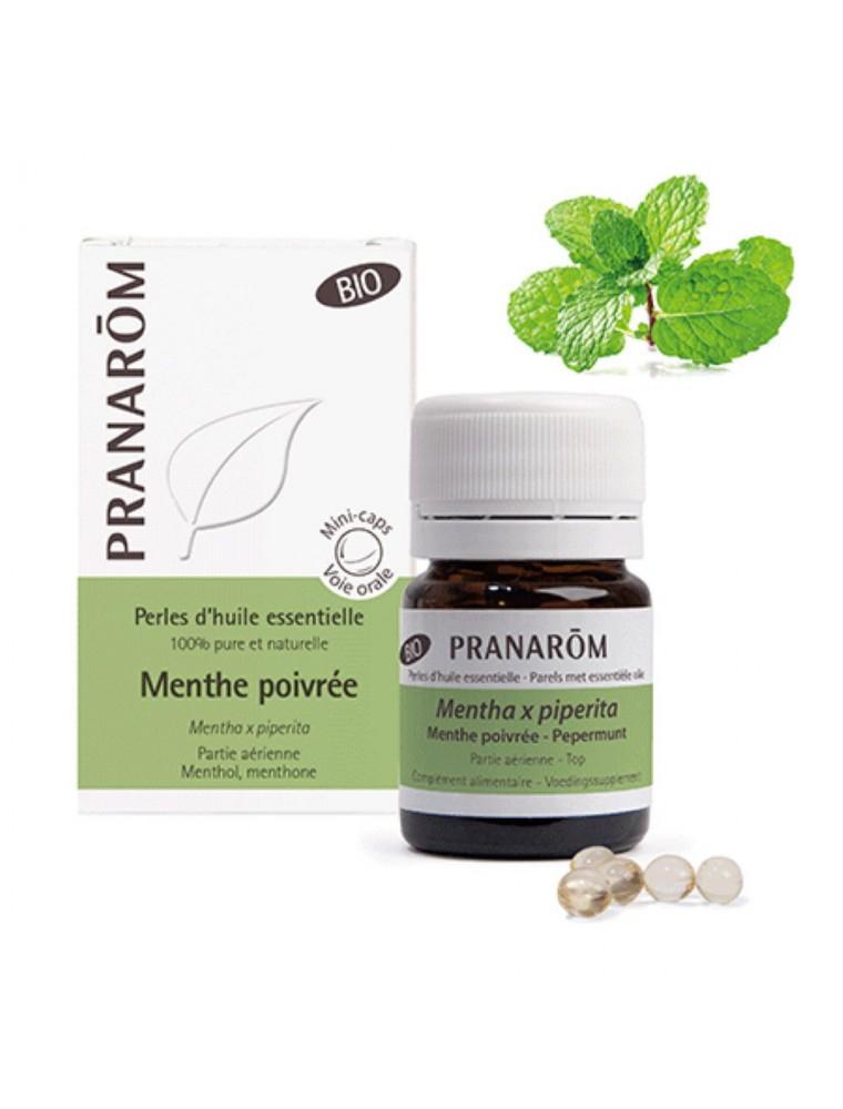 Menthe poivrée Bio - Perles d'huiles essentielles - Pranarôm