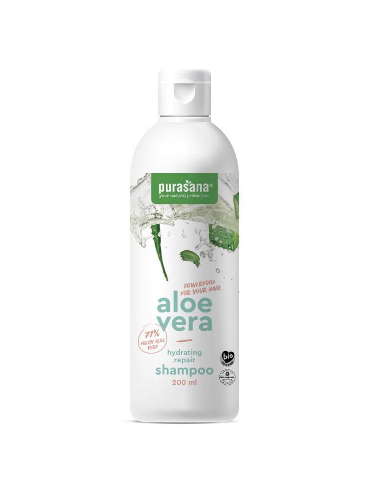 Aloe vera Bio - Shampooing réparateur hydratant 200 ml - Purasana