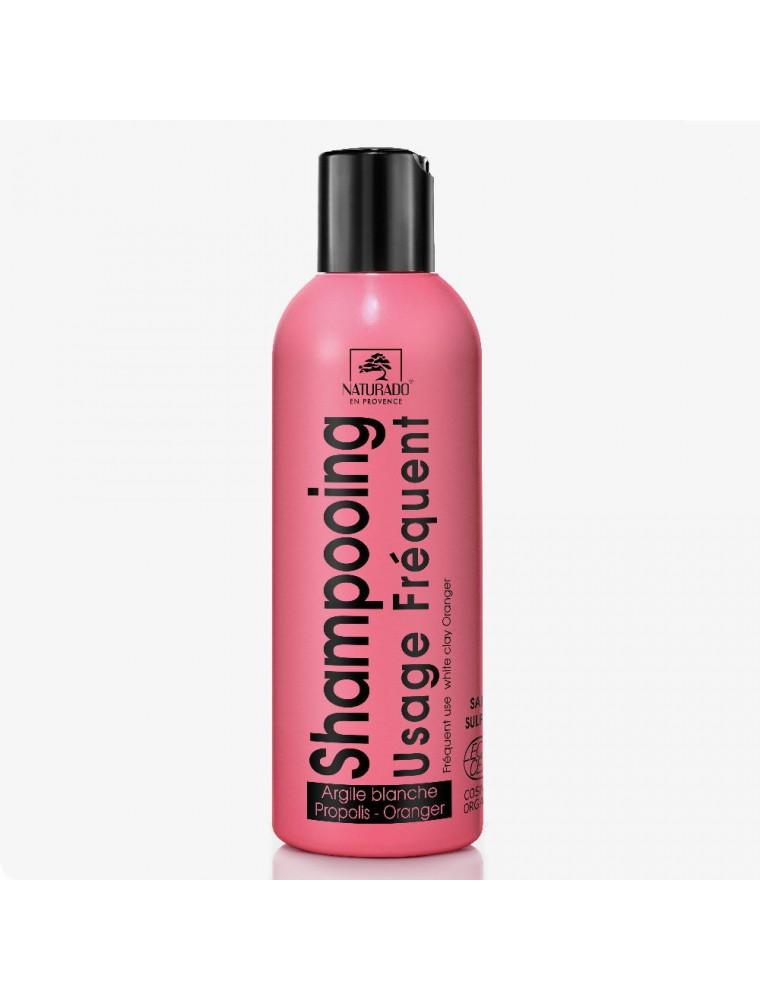 Shampooing Usage fréquent bio - Argile blanche, Propolis et Oranger 200 ml - Naturado