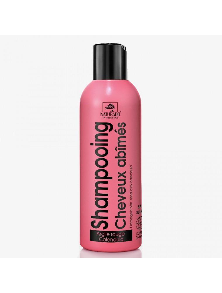 Shampooing Cheveux abîmés bio - Argile rouge et Calendula 200 ml - Naturado