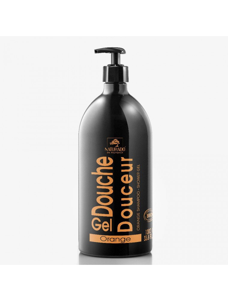 Gel Douche Douceur XXL Bio - Orange 1 Litre - Naturado