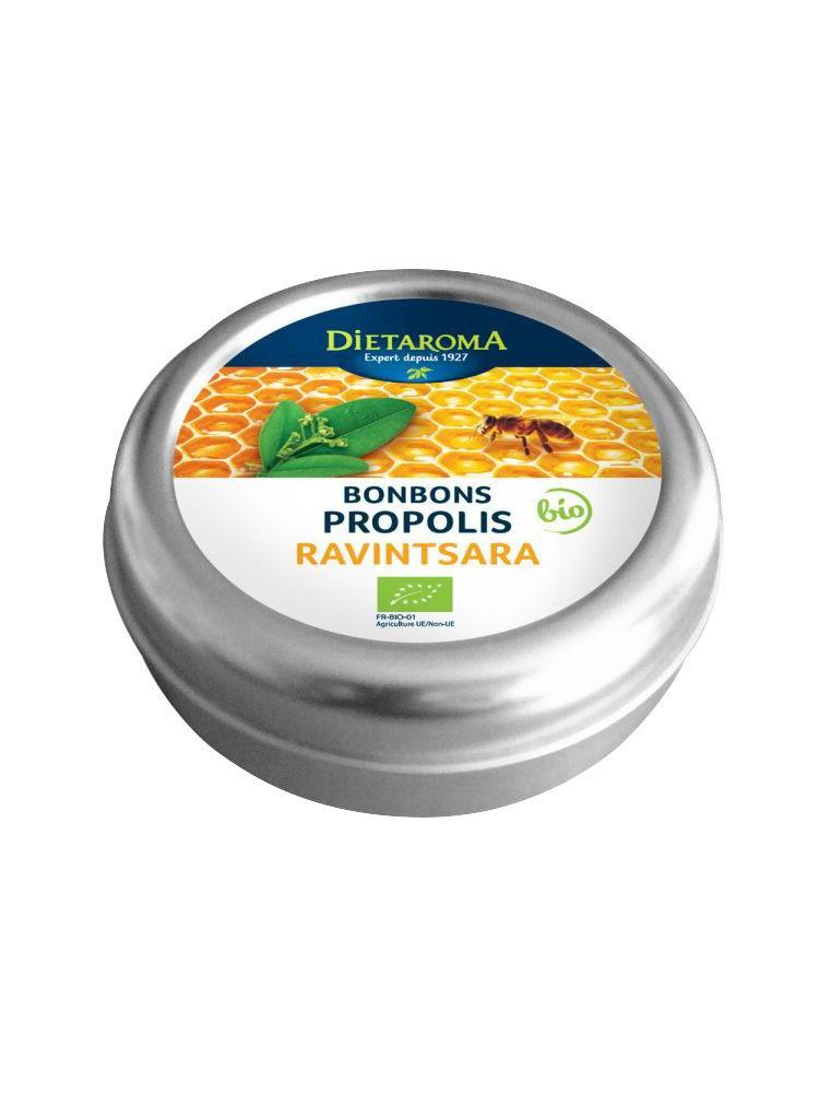 Propolis et Ravintsara Bio Bonbons - Pour la gorge 50 g - Dietaroma