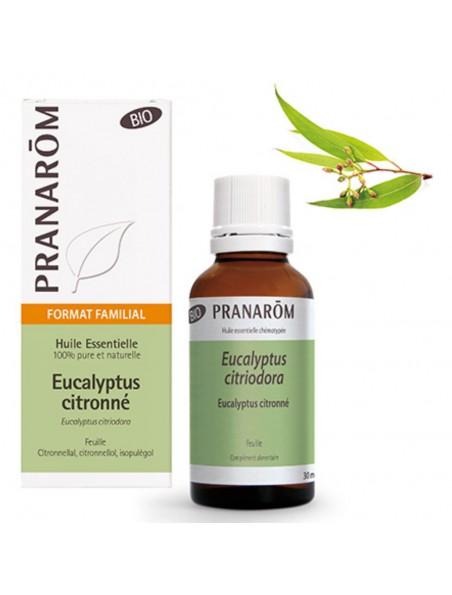Eucalyptus citronné Bio - Huile essentielle d'Eucalyptus citriodora 30 ml - Pranarôm