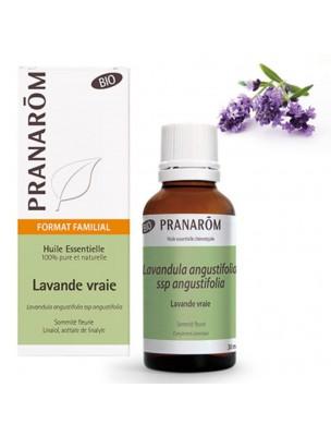 Lavande officinale (vraie) Bio - Huile essentielle Lavandula angustifolia 30 ml - Pranarôm