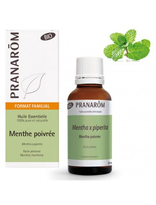 Menthe poivrée Bio - Huile essentielle Mentha piperita 30 ml - Pranarôm