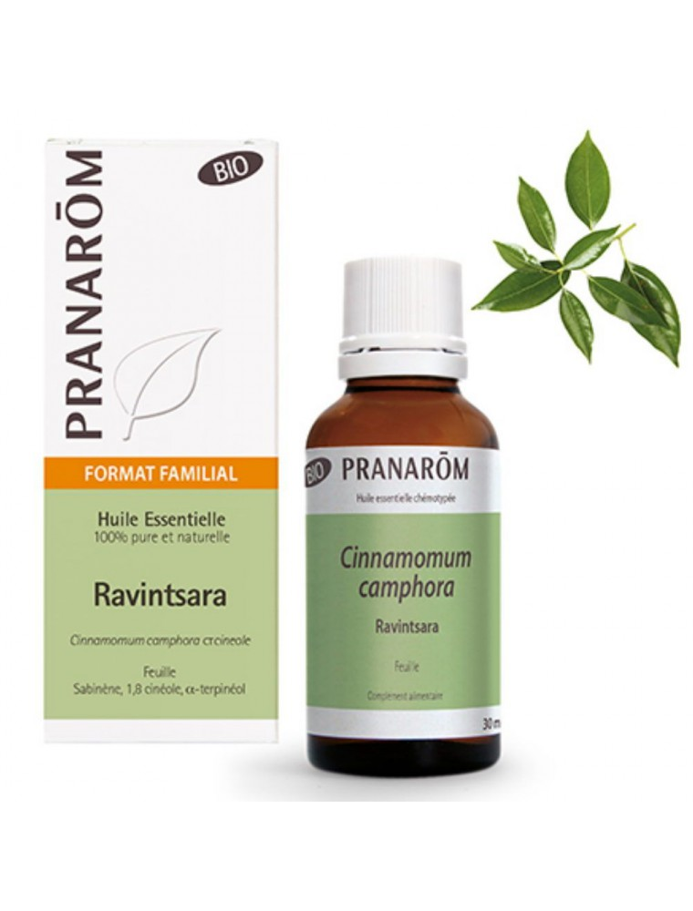 Ravintsara Bio - Huile essentielle de Cinnamomum camphora 30 ml - Pranarôm
