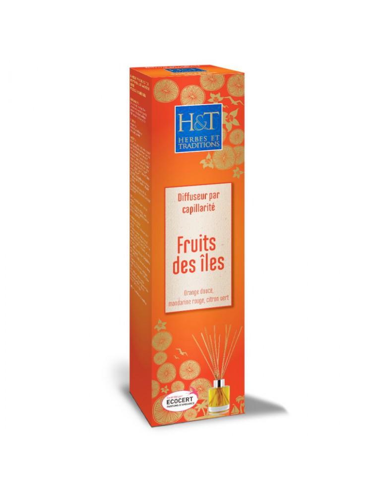 Fruits des îles Bio - Diffuseur par capillarité et recharges 100 ml - Herbes et Traditions