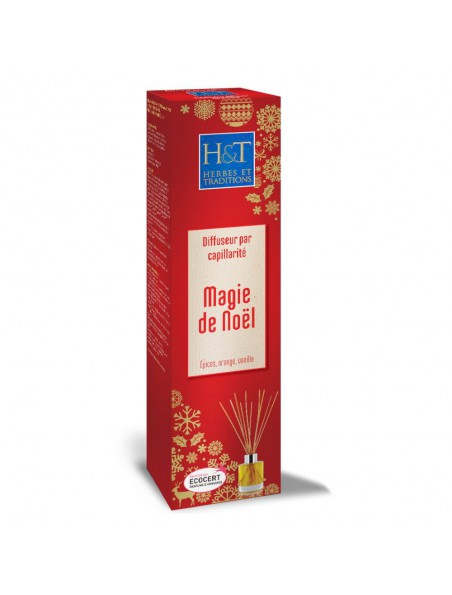 Magie de Noël Bio - Diffuseur par capillarité et recharges 100 ml - Herbes et Traditions