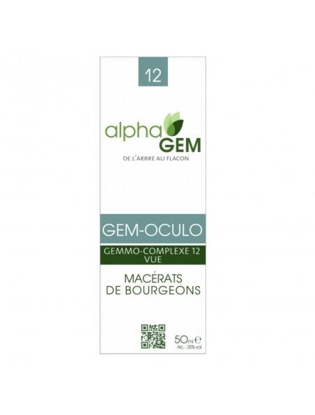 Gem-Oculo Complexe n°12 Bio - Vue 50 ml - Alphagem