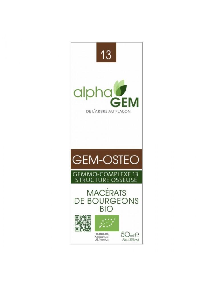 Gem-Osteo Complexe n°13 Bio - Structure osseuse 50 ml - Alphagem