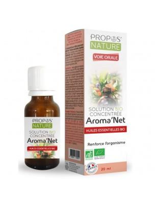 Aroma'Net Solution Concentrée Bio - Immunité 20 ml - Propos Nature