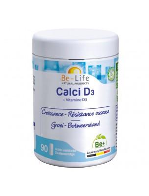 Calci D3 - Croissance & Résistance osseuse 90 gélules - Be-Life