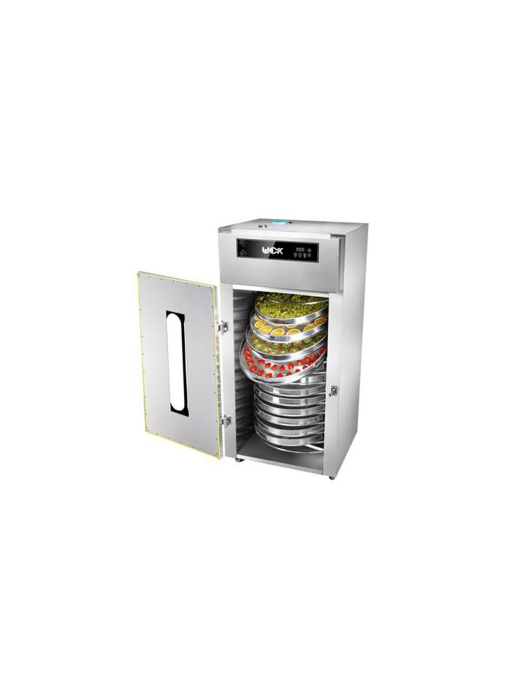 Déshydrateur Inox Pro 1500 W 15 grilles rondes de diamètre 50 cm à rotation interne et à commande digitale