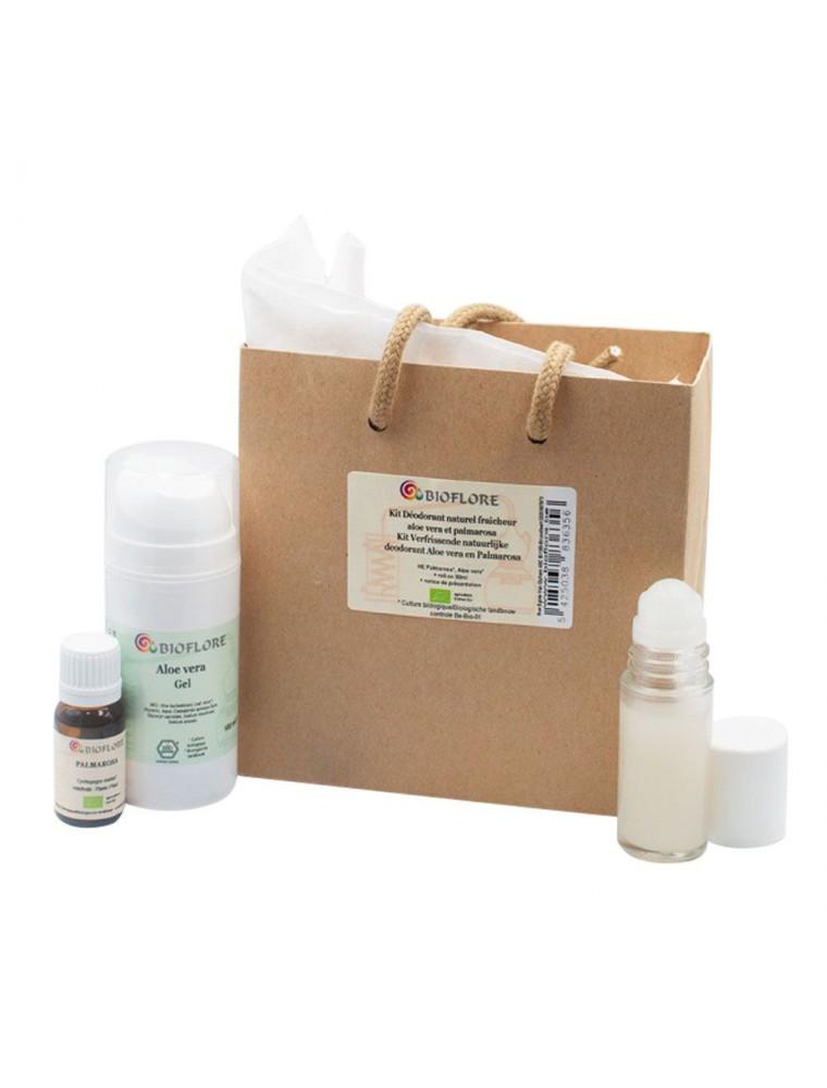 Kit déodorant naturel fraîcheur Bio - Aloe vera et Palmarosa - Bioflore