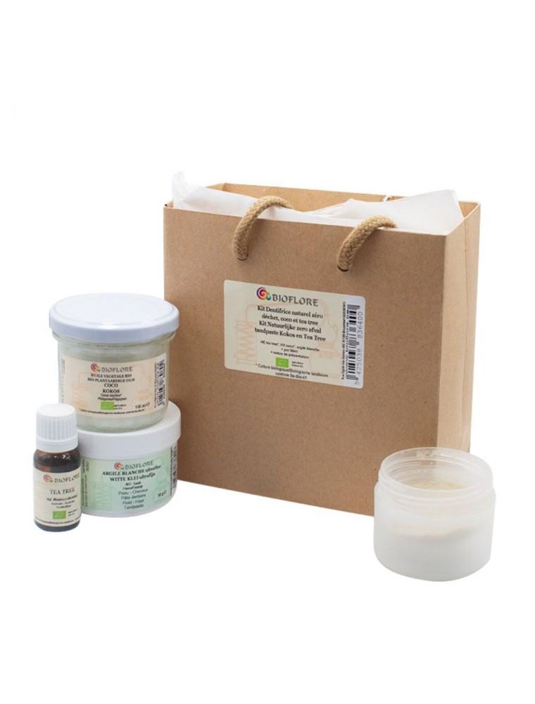 Kit dentifrice naturel zéro déchet Bio - Coco et Tea tree - Bioflore