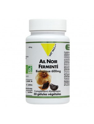 Ail noir fermenté Bio - Défenses immunitaires 30 gélules végétales - Vit'all+