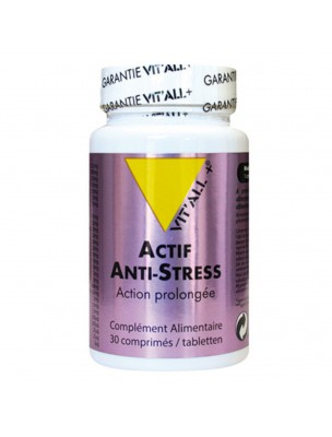 Anti-Stress Action Prolongée - Stress 30 comprimés - Vit'all+