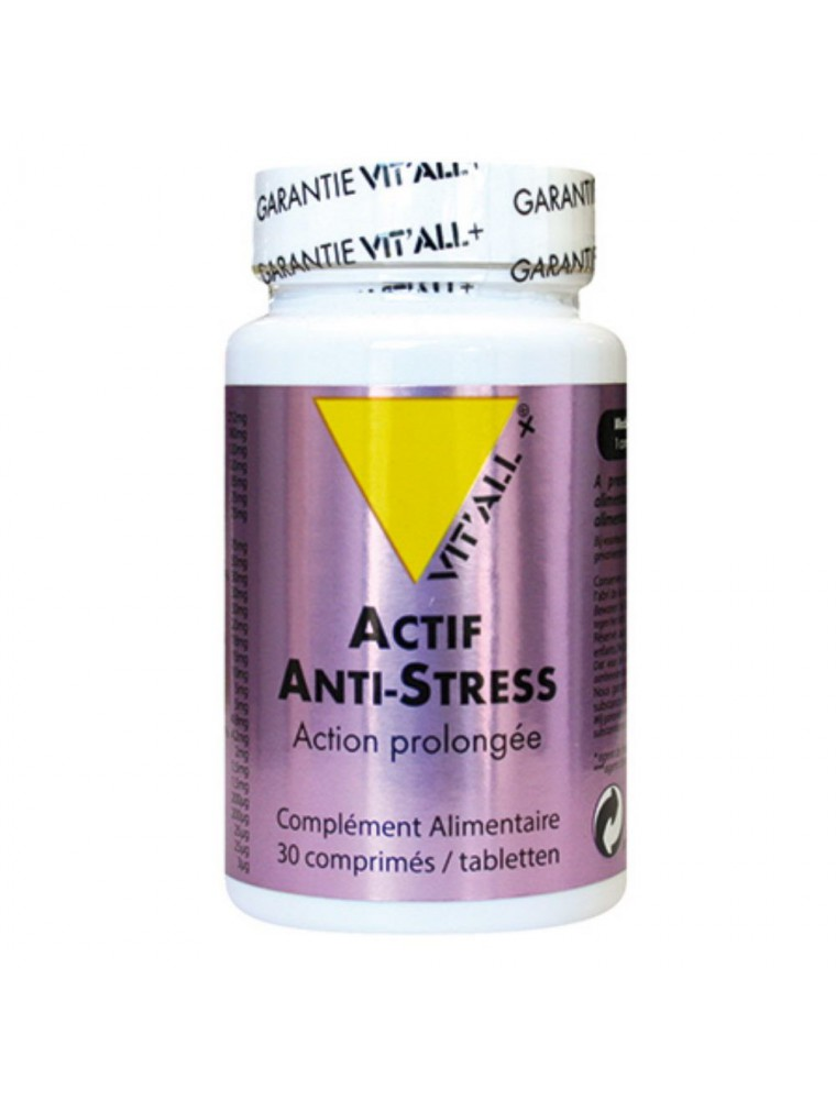 Anti-Stress Action Prolongée - Stress 30 comprimés - Vit'all+