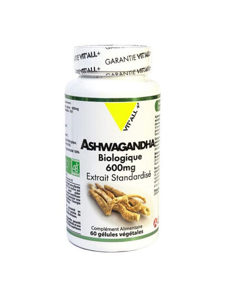 Ashwagandha Bio - Détente et Equilibre mental 60 gélules végétales - Vit'all+