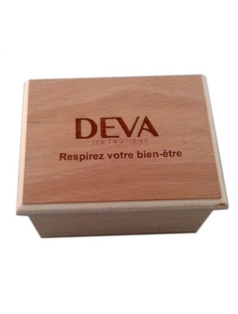 Coffret Bois Vide - Florithérapie 6 emplacements - Deva