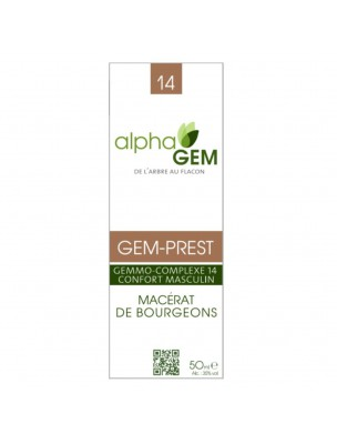 Gem-Prest Complexe n°14 Bio - Confort masculin 50 ml - Alphagem