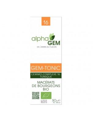 Gem-Tonic Complexe n°16 Bio - Tonus 50 ml - Alphagem