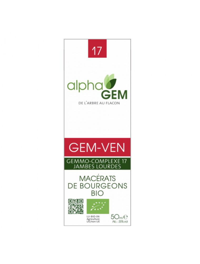 Gem-Ven Complexe n°17 Bio - Circulation 50 ml - Alphagem