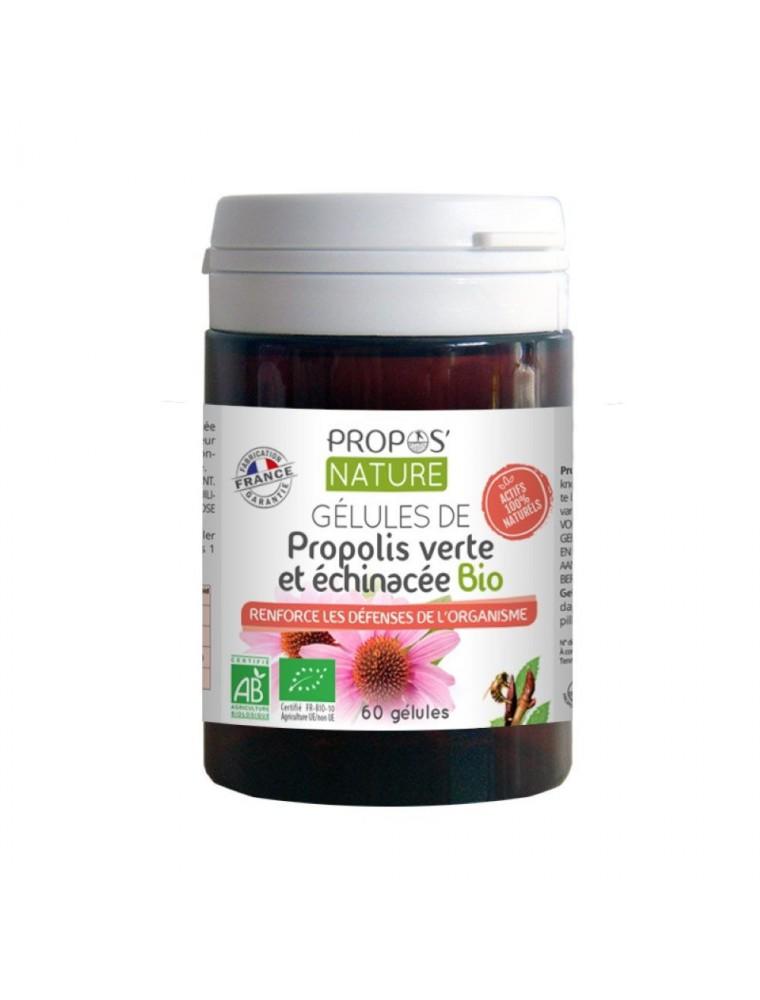 Propolis verte et Echinacée Bio - Immunité 60 gélules - Propos Nature