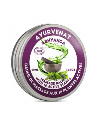Baume de massage aux 18 plantes actives Bio - Ayurvenat Abhyanga 50 ml - Le Secret Naturel