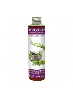 Gel douche aux 18 plantes actives Bio - Ayurvenat 200 ml - Le Secret Naturel