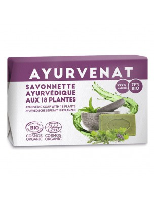 Savonette ayurvédique aux 18 plantes actives Bio - Ayurvenat 100 g - Le Secret Naturel