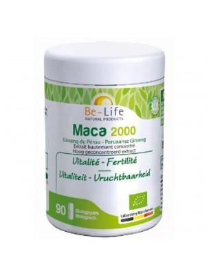 Maca 2000 Bio - Vitalité et Fertilité 90 gélules - Be-Life