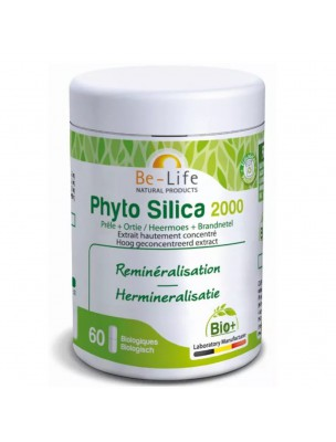 Phyto Silica 2000 Bio - Reminéralisation 60 gélules - Be-Life