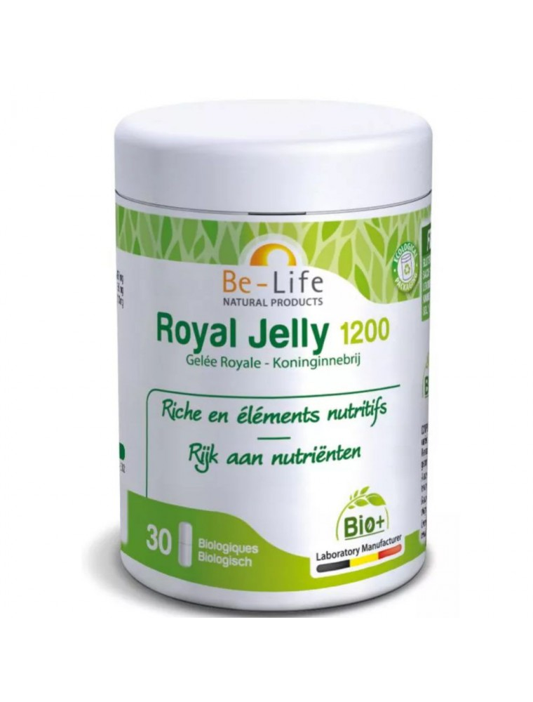 Royal Jelly 1200 Bio - Gelée Royale 30 gélules - Be-Life