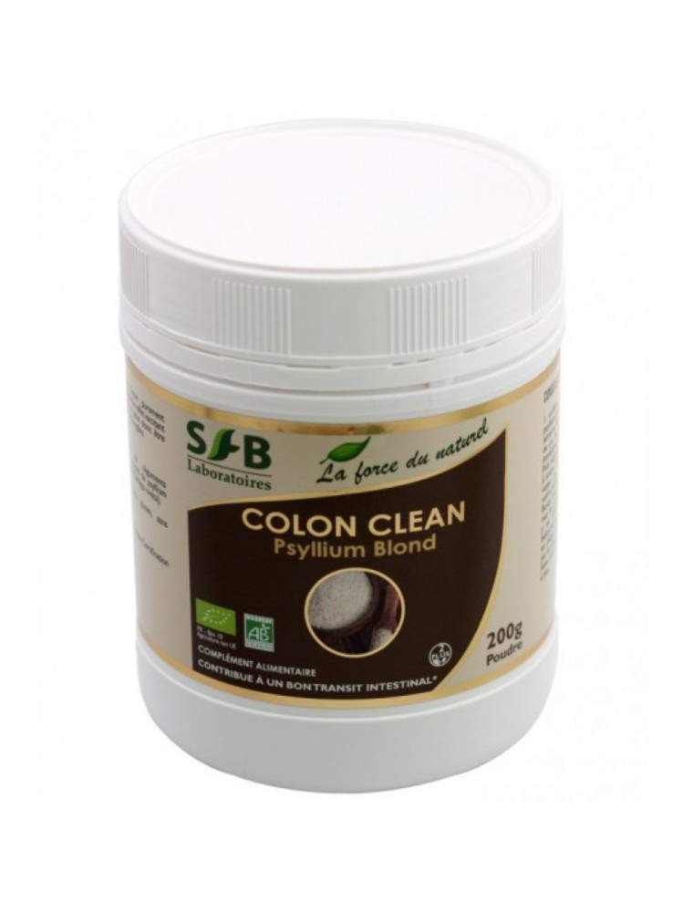 Colon clean Bio - Psyllium blond en poudre 200 grammes - SFB Laboratories