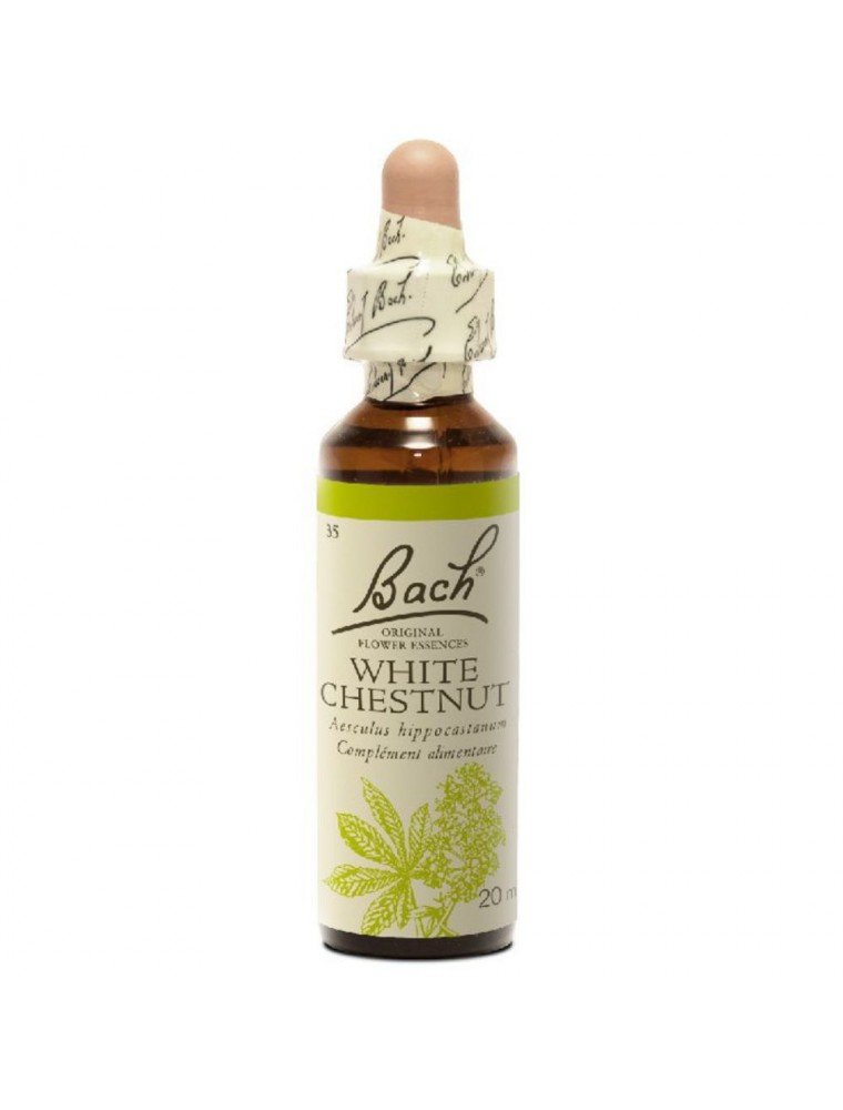 White Chestnut (Marronnier blanc) N° 35 - Ruminations mentales 20ml - Fleurs de Bach Original