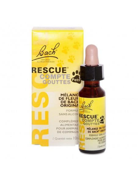 Rescue Remedy Pets en gouttes - Stress des animaux 10 ml - Fleurs de Bach Original
