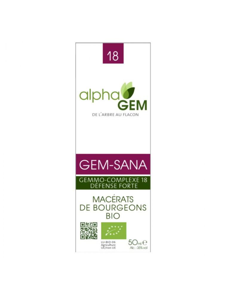 Gem-Sana Complexe n°18 Bio - Défense forte 50 ml - Alphagem