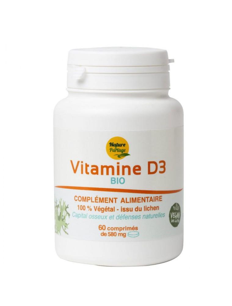 Vitamine D3 Bio - Capital osseux et Défenses naturelles 60 comprimés - Nature et Partage