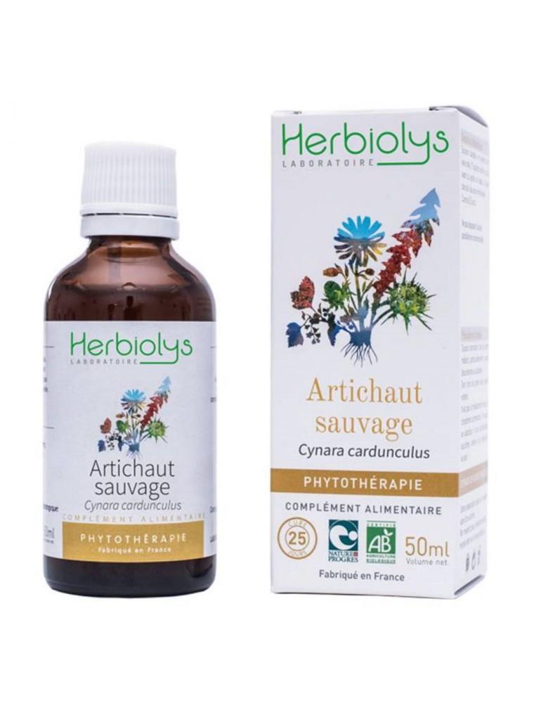 Artichaut sauvage Bio - Digestion et Circulation Teinture-mère de Cynara cardunculus 50 ml - Herbiolys