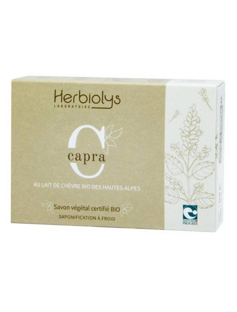 Savon au lait de chèvre Capra Bio - Pavot 100G - Herbiolys