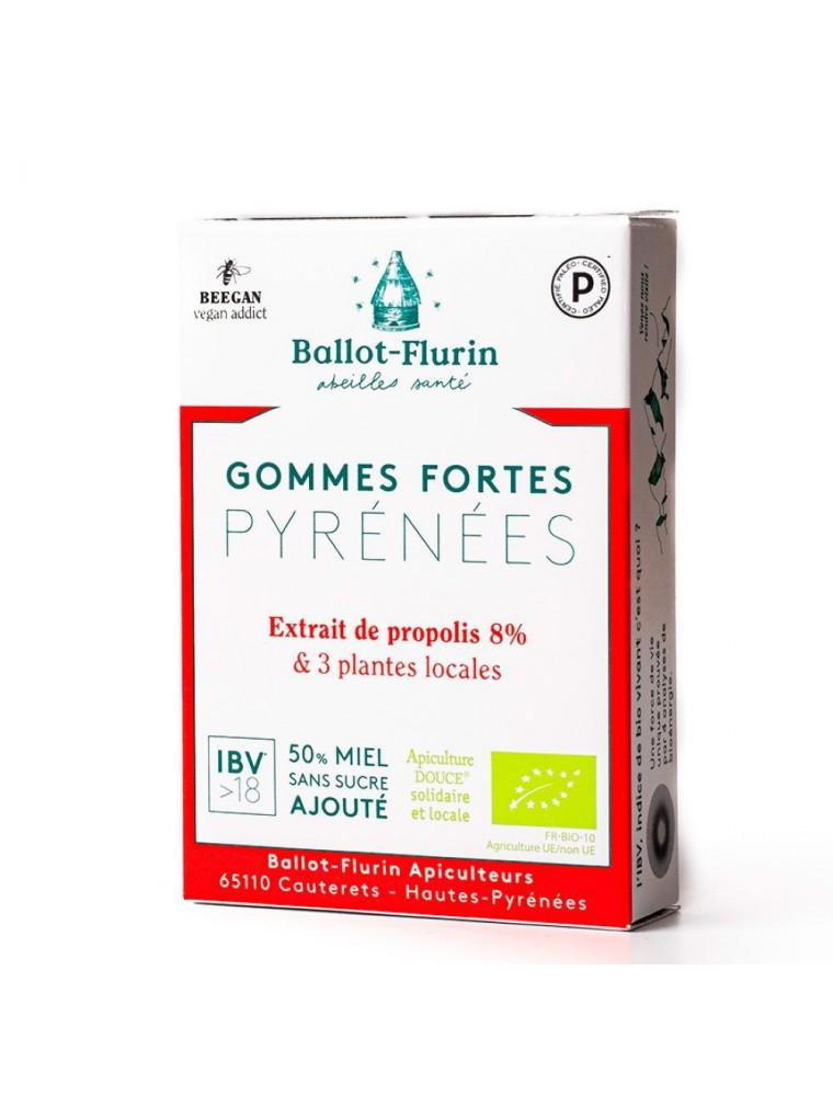 Gommes Fortes des Pyrénées Bio - Premières irritations de la gorge - Ballot-Flurin