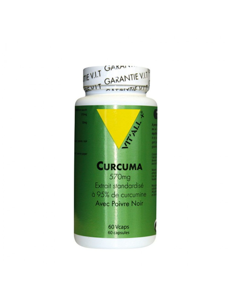 Curcuma 570 mg - Articulations et Digestion 60 gélules végétales - Vit'all+