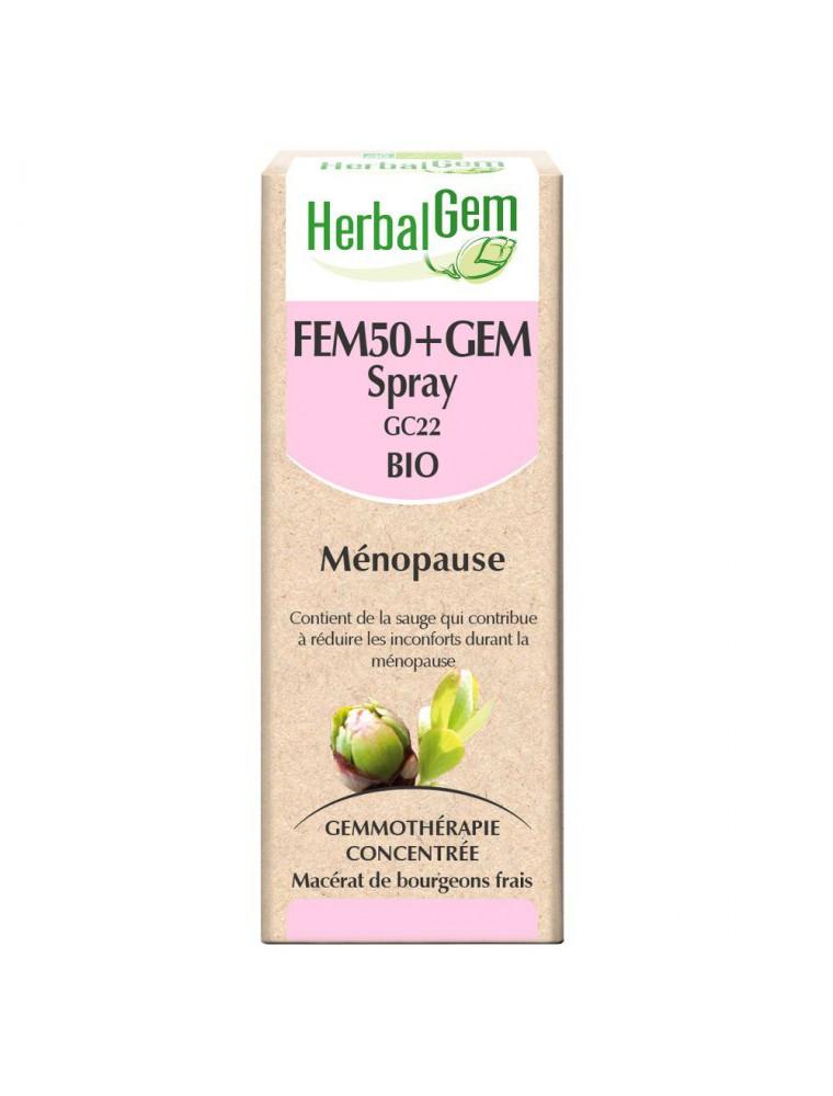 Fem50+GEM GC 22 Bio - Ménopause Spray 10 ml - Herbalgem