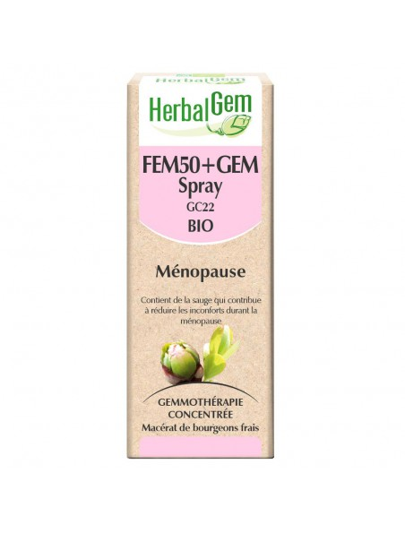 Fem50+GEM GC 22 Bio - Ménopause Spray 10 ml - Herbalgem