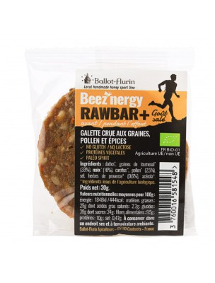 Beez'Nergy Rawbar + Salée Bio - Galette 30g - Ballot-Flurin