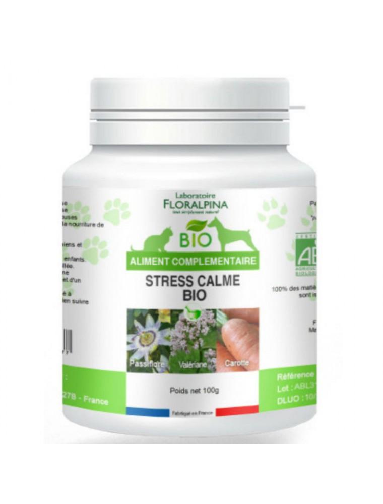 Stress Calme Bio - Stress des Chiens et Chats 100 g - Floralpina