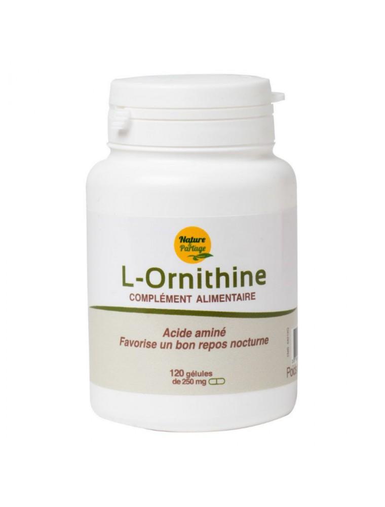 L-Ornithine - Acide aminé 120 gélules - Nature et Partage
