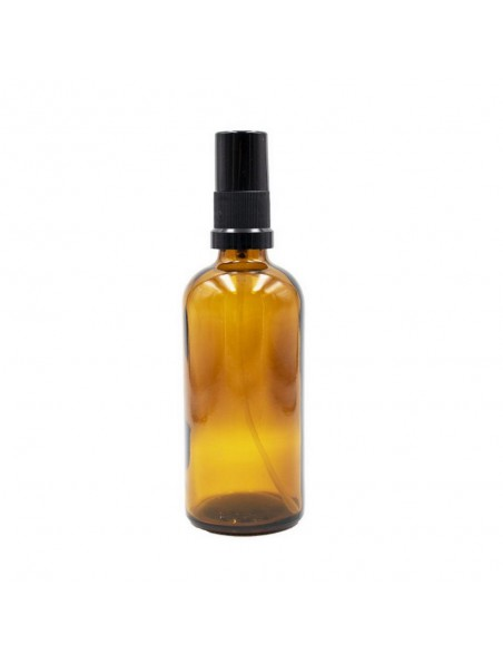 Flacon en verre brun de 100 ml avec pompe spray