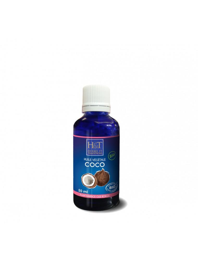 Coco Bio - Huile végétale de Coco Nucifera 50 ml - Herbes et Traditions